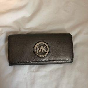 Michael Kors silver wallet